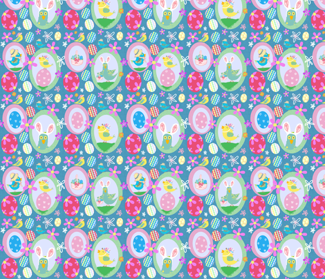 Easter Birdie Egg Hunt fabric by taramcgowan on Spoonflower - custom fabric