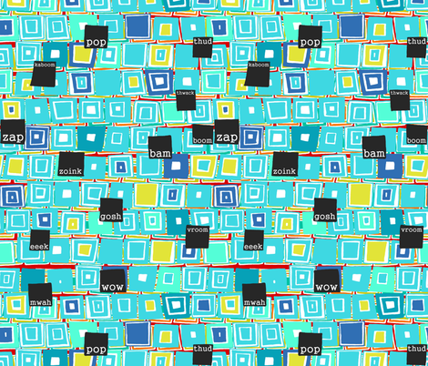 understated comic fabric by scrummy on Spoonflower - custom fabric