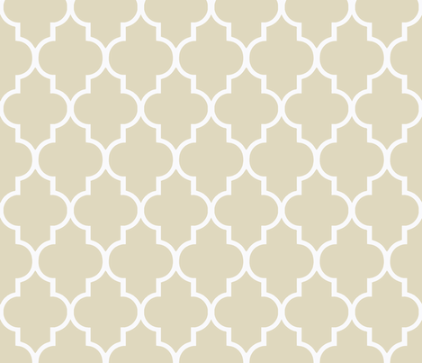 White on Soft Khaki fabric by sparrowsong on Spoonflower - custom fabric