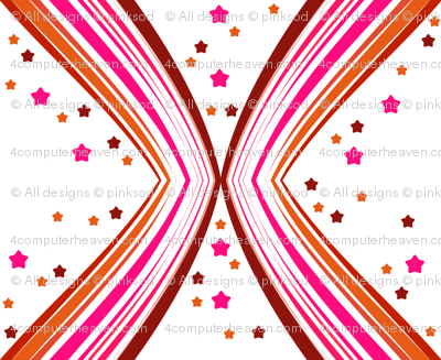 Ribbon Lattice - Paprika Star - © PinkSodaPop 4ComputerHeaven.com