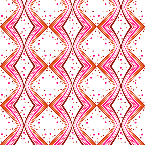Ribbon Lattice - Paprika Star - © PinkSodaPop 4ComputerHeaven.com fabric by pinksodapop on Spoonflower - custom fabric