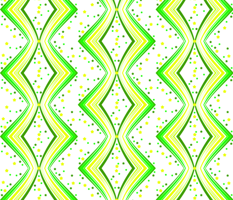 Ribbon Lattice - Limon Stars - © PinkSodaPop 4ComputerHeaven.com fabric by pinksodapop on Spoonflower - custom fabric