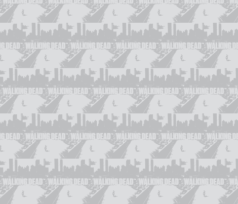 The Walking Dead, faded & whitewashed fabric by kraney88 on Spoonflower - custom fabric