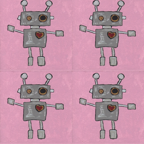 Boop Boop Beep Boop means I Love You fabric by lorigrace on Spoonflower - custom fabric