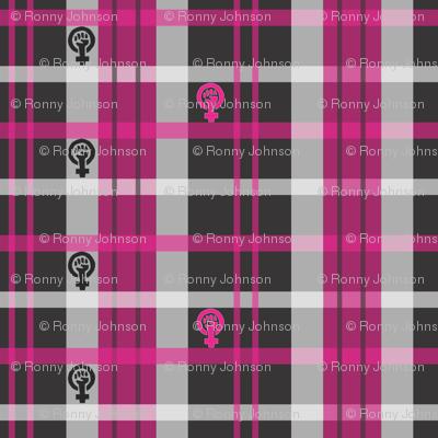 Pink Feminist Plaid