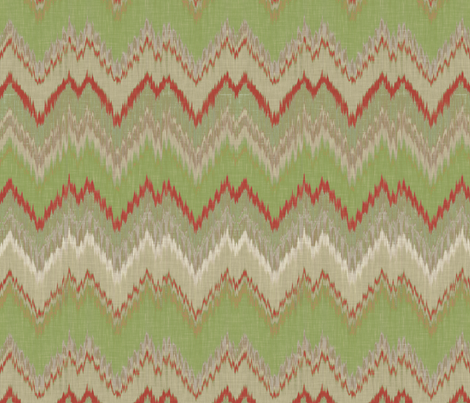 Yuletide Ikat Chevron fabric by sparrowsong on Spoonflower - custom fabric