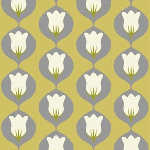 mid-century tulip in alloy