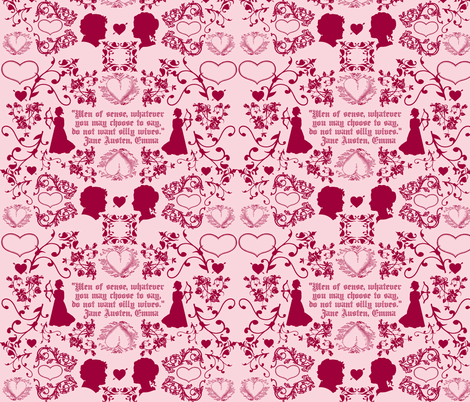 Emma Toile Jane Austen fabric by littleliteraryclassics on Spoonflower - custom fabric