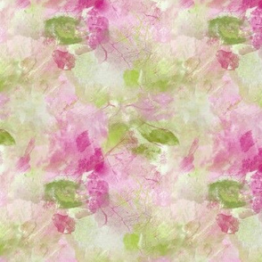 Watercolor Design in Green and Pink