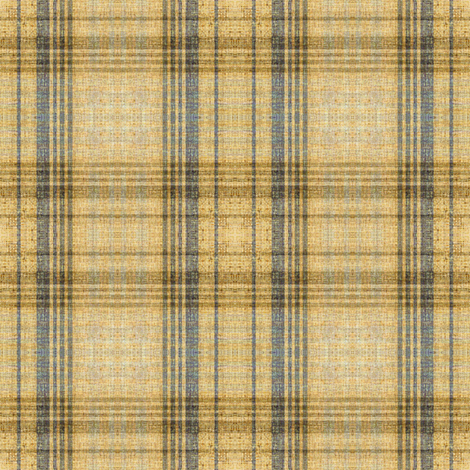 Fireside plaid in linen texture fabric by joanmclemore on Spoonflower - custom fabric