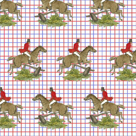 Tally Ho Check fabric by ragan on Spoonflower - custom fabric