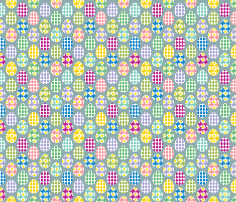 Painted eggs fabric by alexsan on Spoonflower - custom fabric