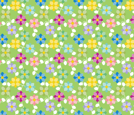 Flowers and eggs fabric by alexsan on Spoonflower - custom fabric