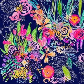 Neon Night Flower Garden