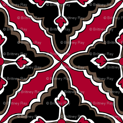Floral Tile: Red Clay
