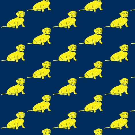 Rwiener_dog_yellow_on_navy_shop_preview