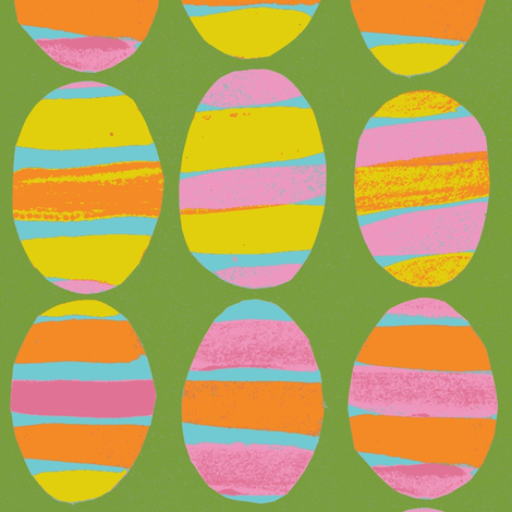 striped eggs fabric by luckyb on Spoonflower - custom fabric