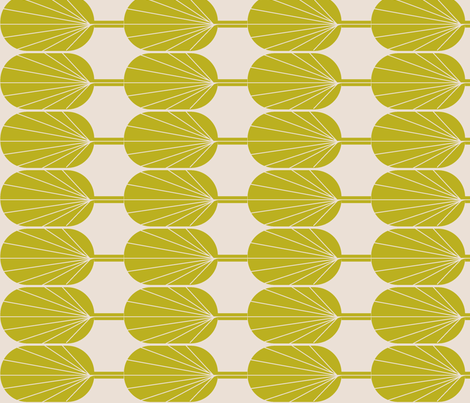Fanpod new wasabi and champagne-ch fabric by ninaribena on Spoonflower - custom fabric