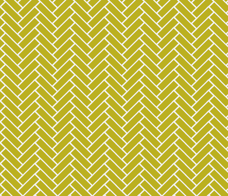 herringbone wasabi and white-ch fabric by ninaribena on Spoonflower - custom fabric