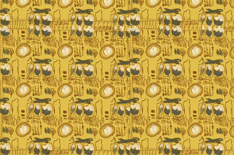 darling its Spring (yellow) fabric by toknight on Spoonflower - custom fabric