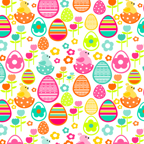 Springtime Easter fabric by simplysweet on Spoonflower - custom fabric