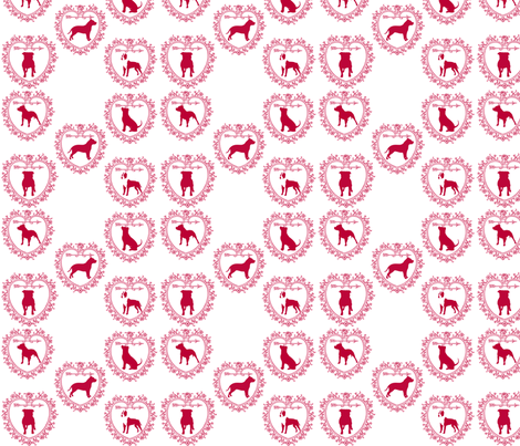 Pitbull love! fabric by savagelystitched on Spoonflower - custom fabric