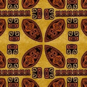 Brown Tiki Shield