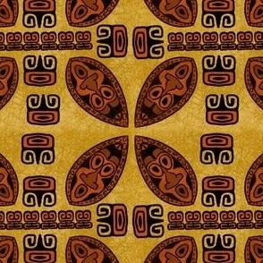 Brown Tiki Shield