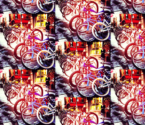 city bikes fabric by ciprianophotography on Spoonflower - custom fabric