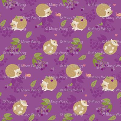 Hedgehogs and berries