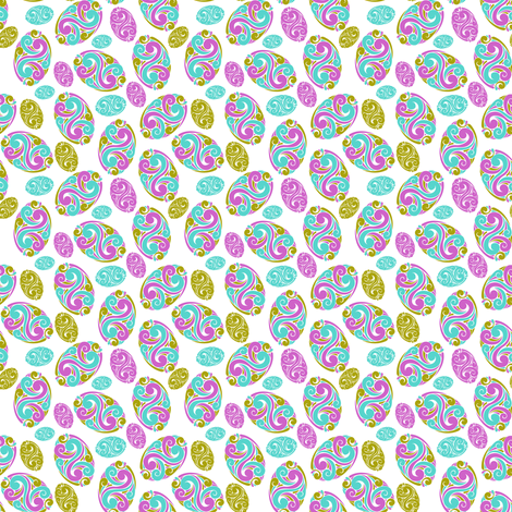 floral egg painting  fabric by suma on Spoonflower - custom fabric
