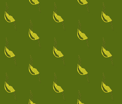 Seeds army + citron fabric by darci on Spoonflower - custom fabric