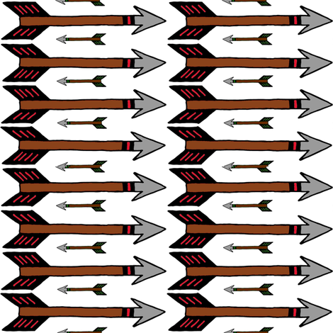 Arrows (colored fletching) fabric by ravynscache on Spoonflower - custom fabric