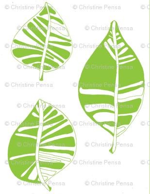 Olive Green Leafy Garden