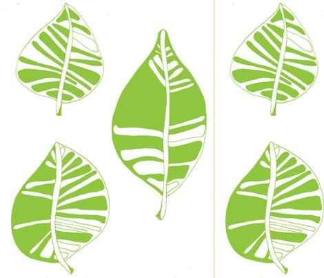 Olive Green Leafy Garden fabric by artthatmoves on Spoonflower - custom fabric