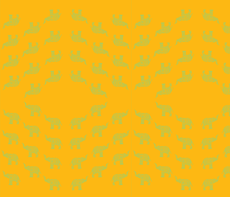 Yellow elephant fabric fabric by artthatmoves on Spoonflower - custom fabric