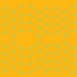 Yellow elephant fabric