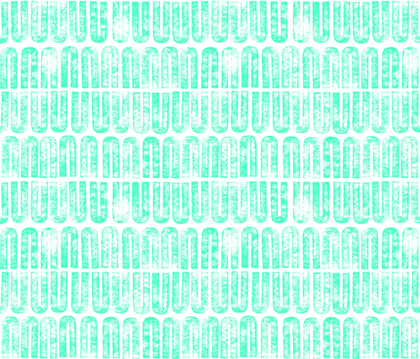 U make it awesome - Turquoise fabric by cameronhomemade on Spoonflower - custom fabric