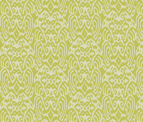 Avacado Ikat fabric by ragan on Spoonflower - custom fabric