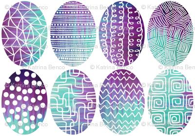 Modern Batik Easter Eggs