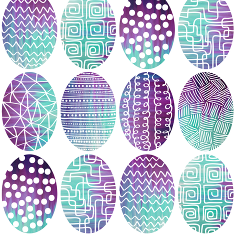 Modern Batik Easter Eggs fabric by veritymaddox on Spoonflower - custom fabric