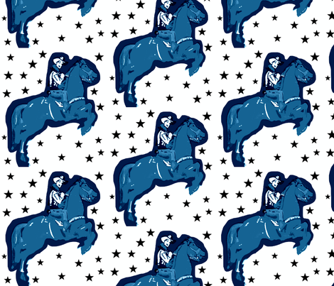 Rootin Tootin Fun with Stars fabric by bettinablue_designs on Spoonflower - custom fabric