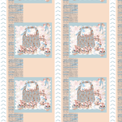 Peach and Powder blue Easter