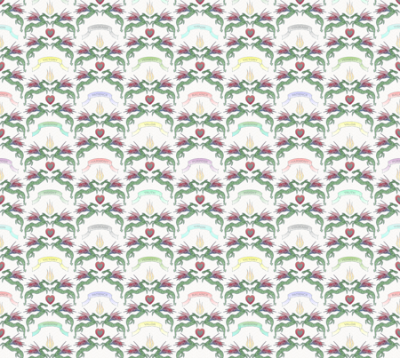 dragon damask milk fabric by glimmericks on Spoonflower - custom fabric