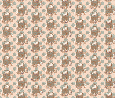 A Peach Baskey fabric by karenharveycox on Spoonflower - custom fabric