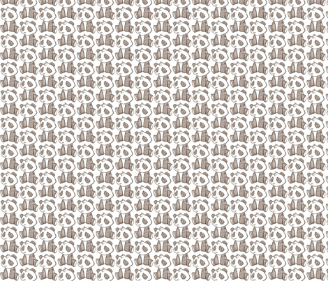 Panda baby fabric by mezzime on Spoonflower - custom fabric