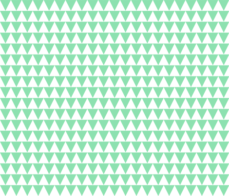 mint triangles fabric by anjrogers0804 on Spoonflower - custom fabric