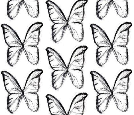 Butterfly dream fabric by mezzime on Spoonflower - custom fabric