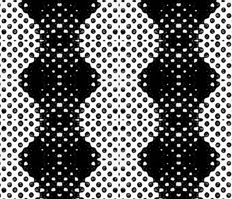 Black Ink Dots (Sale) fabric by ninka on Spoonflower - custom fabric