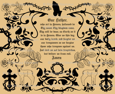The Lord's Prayer toile